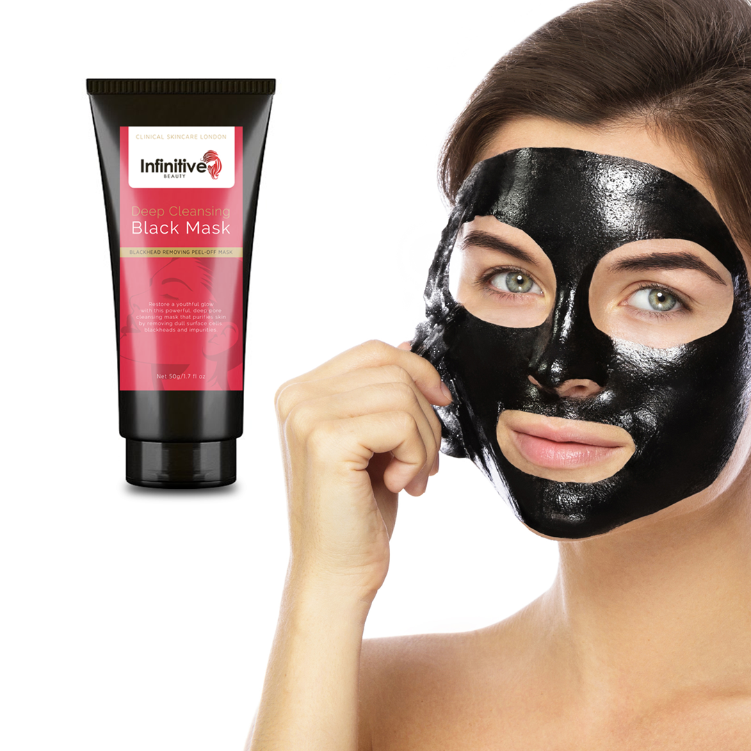 Infinitive Beauty Deep Cleansing Black Mask - Blackhead Removing Peel off Mask 50g, Skin Care Masks & Peels by Forever Cosmetics