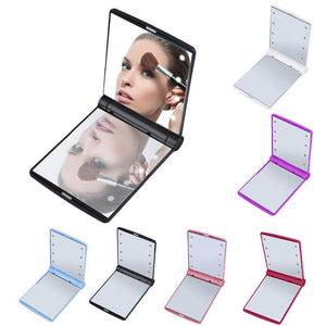 Glamza Portable LED Make Up Flip Mirror
