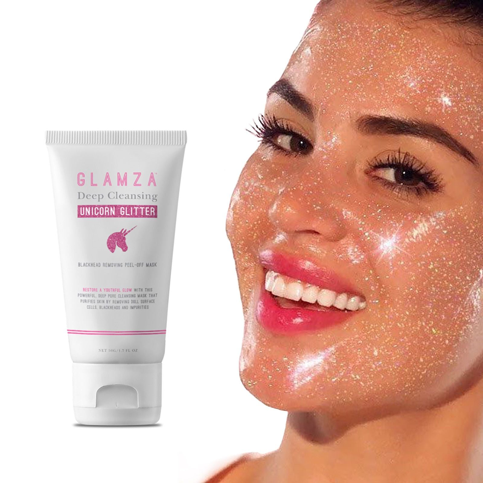 Glamza Deep Cleansing Unicorn Glitter Face Peel, Skin Care Masks & Peels by Forever Cosmetics