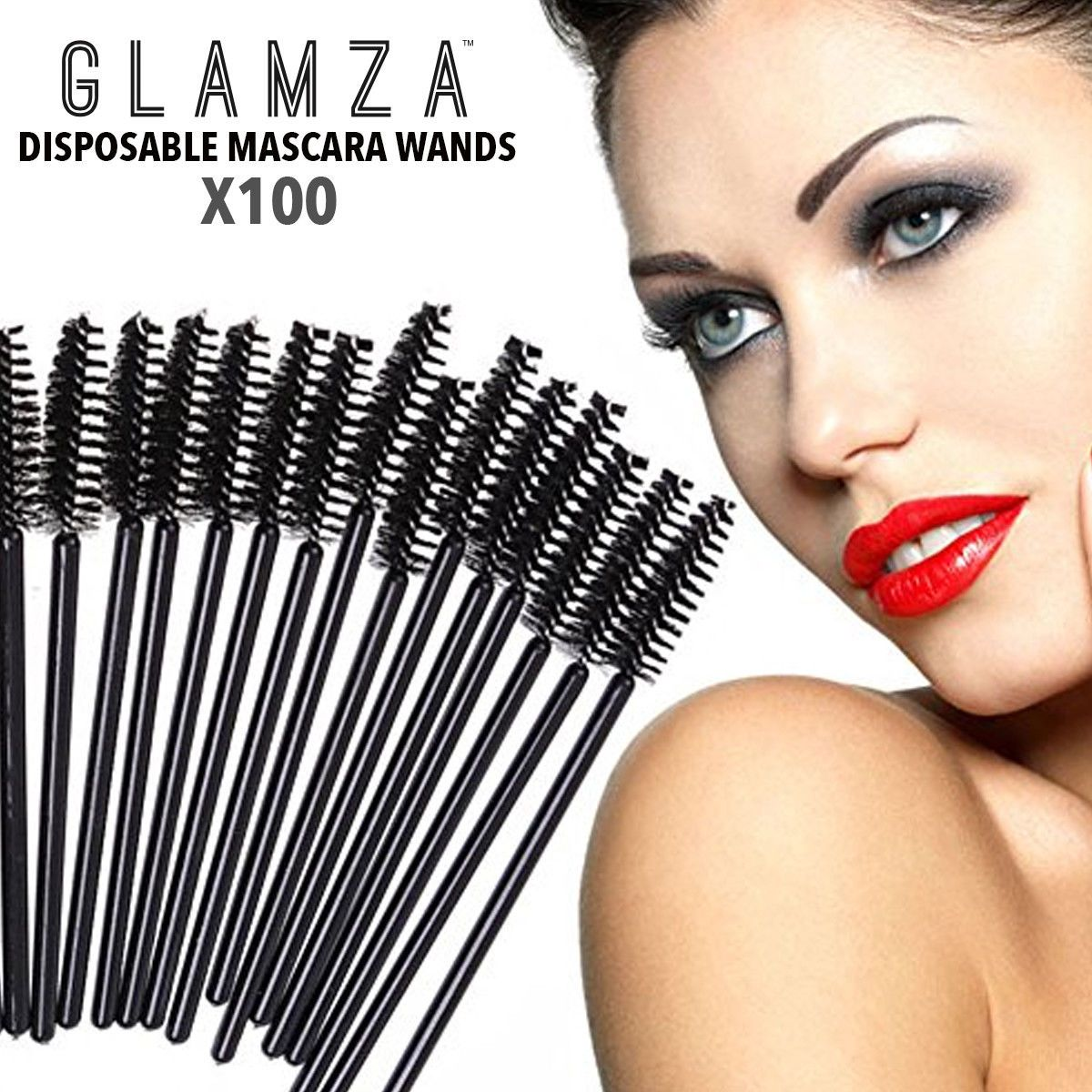 Glamza Mascara Wands x100, Makeup Brushes by Forever Cosmetics