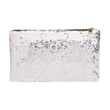 Load image into Gallery viewer, Glamza Dazzling Sequin Hand and Makeup Bag