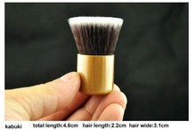 Load image into Gallery viewer, 11pc Luxury Bamboo Makeup Brushes and Carry Bag - Individual Brushes