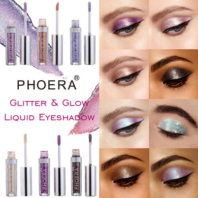 Phoera Magnificent Metals Glitter & Glow Liquid Eyeshadow