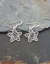 Load image into Gallery viewer, E567 - WIRE MESH STAR DROP EARRING