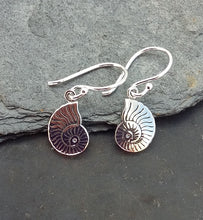 Load image into Gallery viewer, E607 -NAUTILUS SHELL DROP EARRING