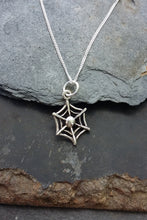 Load image into Gallery viewer, P285BC - SMALL COBWEB PENDANT