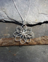 Load image into Gallery viewer, P490-Water Lily 925 silver pendant  High polish finish Size 30mm x 24mm