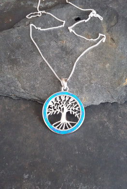 P506-TREE OF LIFE FIRE OPAL PENDANT