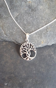 P521 - Oval tree of life pendant