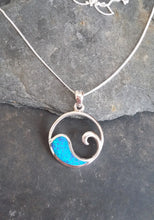Load image into Gallery viewer, P554BC-WAVE BLUE OPAL PENDANT