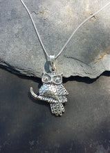 Load image into Gallery viewer, P681 -SILVER OWL PENDANT