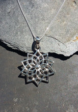 Load image into Gallery viewer, P691 - MANDALA LILY PENDANT