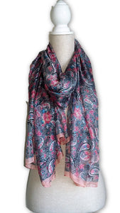 BLSC004 Beautiful 30% Silk Multi coloured scarf