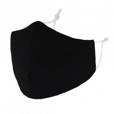 F0042 - PLAIN BLACK FACEMASK