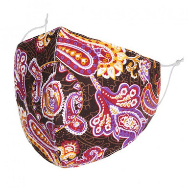 F0071 - PINK/PURPLE PAISLEY FACE MASK