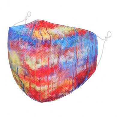 F0090 - Abstract rainbow paint FACE MASK