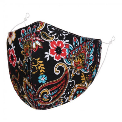 BL092 - Colourful Paisley pattern FACE MASK