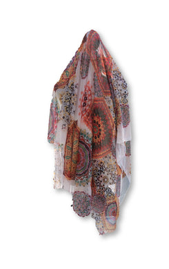 BLSC009 Beautiful 30% Silk Multi coloured scarf