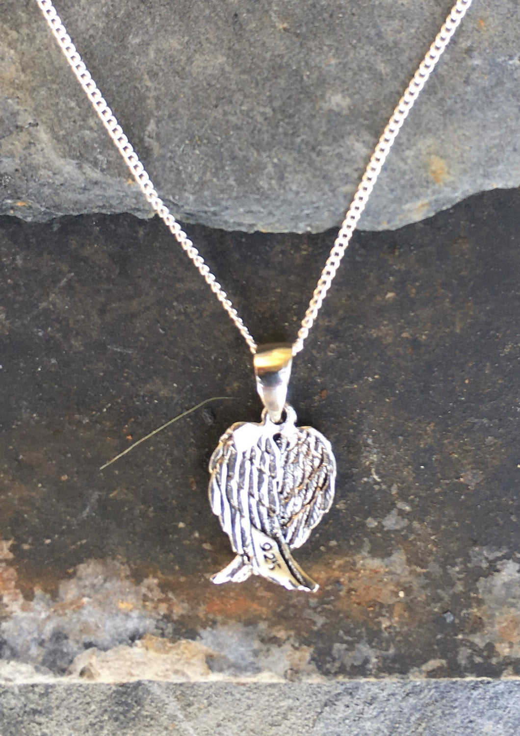 P419 - FOLDED ANGEL WING PENDANT