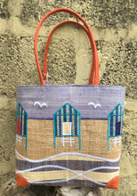 Load image into Gallery viewer, Madaraff Raffia Bag – Medium – Beach Hut Design