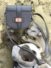 Load image into Gallery viewer, Grey Tweed Style Material Shoulder Bag