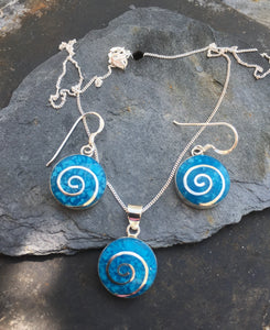 SE141SP100 BLUE ROUND SWIRL SET