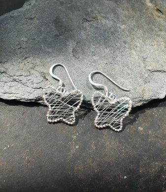 SE135 - WIRE WORK BUTTERFLY EARRING
