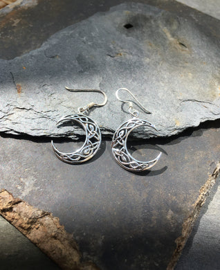 E324 - CELTIC MOON EARRINGS