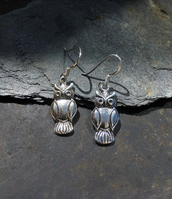 E507 - OWL DROP EARRING
