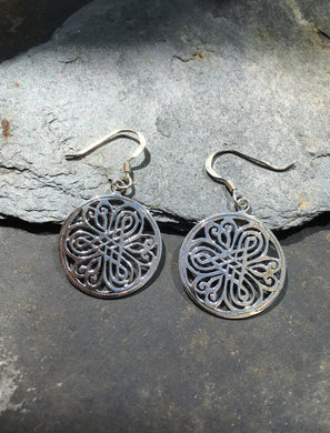 E522 - MANDALA DESIGN DISC EARRING