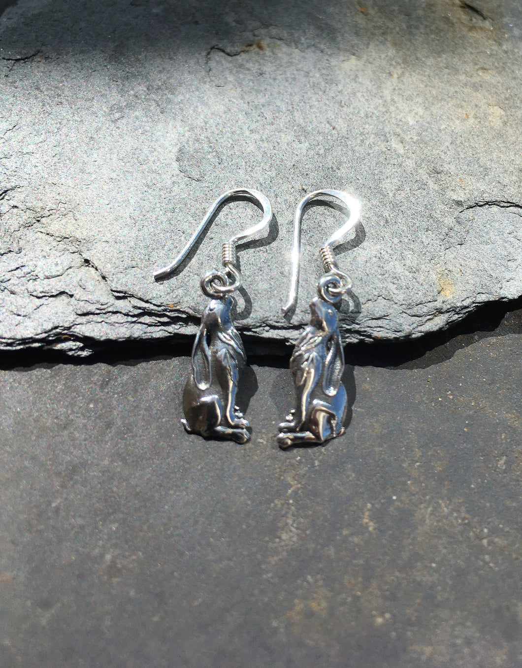 E524-MOON GAZING HARE EARRING