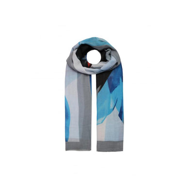 Abstract Colours Printed Scarf - Grey
