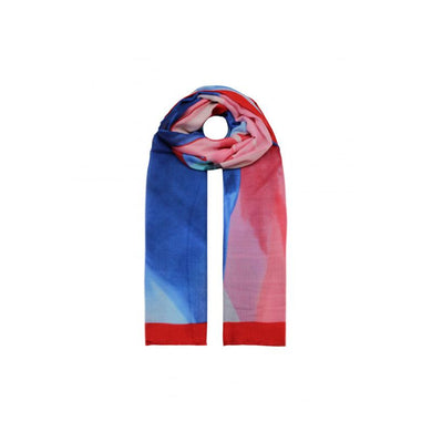 Abstract Colours Printed Scarf - Red