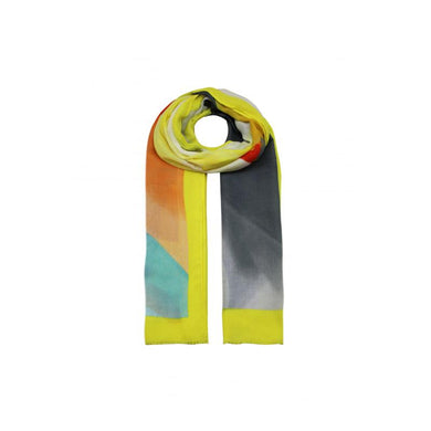 Abstract Colours Printed Scarf - Yellow