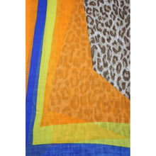 Load image into Gallery viewer, Coloured Leopard Printed Scarf - Orange