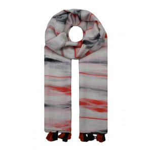 Waves Colour Tassle Scarf - Pink
