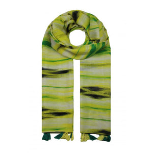 Waves Colour Tassle Scarf -  Yellow