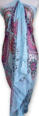 BLSC001 Beautiful 30% Silk Multi coloured scarf