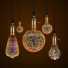 Load image into Gallery viewer, 3D LED Lamp Edison Light Bulb Vintage Decoration E27 110V 220V LED Filament lamp Copper Wire String Replace Incandescent Bulb