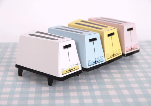 60s TOASTER Retro Wedding Toaster Gift Box Templates, 70s Toaster, From Sweet Homes