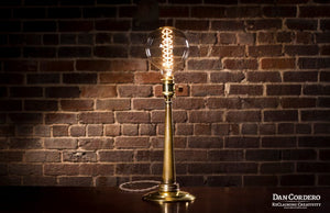 Vintage Brass Fire Hose Nozzle - Table Lamp - Desk Lamp - From Sweet Homes