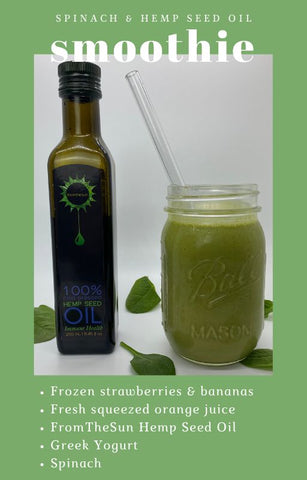 Spinach and Hemp Seed Oil Smoothie