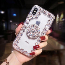 Load image into Gallery viewer, 2019 Hot Selling Luxury Fashion Airbag Diamond Kickstand Phone Case for iPhone phone case Article union white IPHONE XS MAX
