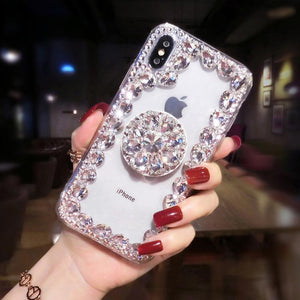2019 Hot Selling Luxury Fashion Airbag Diamond Kickstand Phone Case for iPhone phone case Article union white IPHONE XS MAX