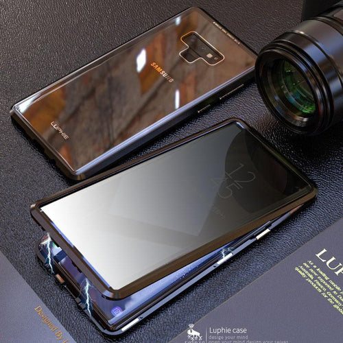Anti-Peeping Privacy Magnetic Adsorption Two Side Tempered Glass Phone Case For Samsung Note 9 phone case Article union black SAMSUNG NOTE9