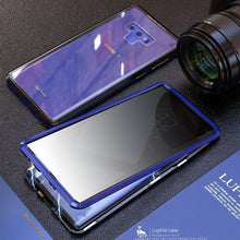 Load image into Gallery viewer, Anti-Peeping Privacy Magnetic Adsorption Two Side Tempered Glass Phone Case For Samsung Note 9 phone case Article union blue SAMSUNG NOTE9