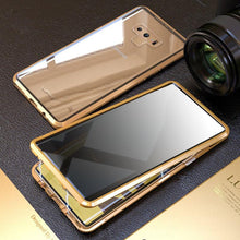 Load image into Gallery viewer, Anti-Peeping Privacy Magnetic Adsorption Two Side Tempered Glass Phone Case For Samsung Note 9 phone case Article union gold SAMSUNG NOTE9