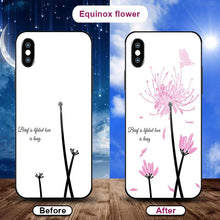 Load image into Gallery viewer, Flowering when exposed to UV Rays, new technology tempered glass phone case for iPhone phone case Article union equinox flower IPHONE XS MAX