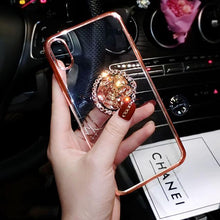 Load image into Gallery viewer, 2019 new fashion luxury flash diamond bracket case for iPhone phone case Rubili