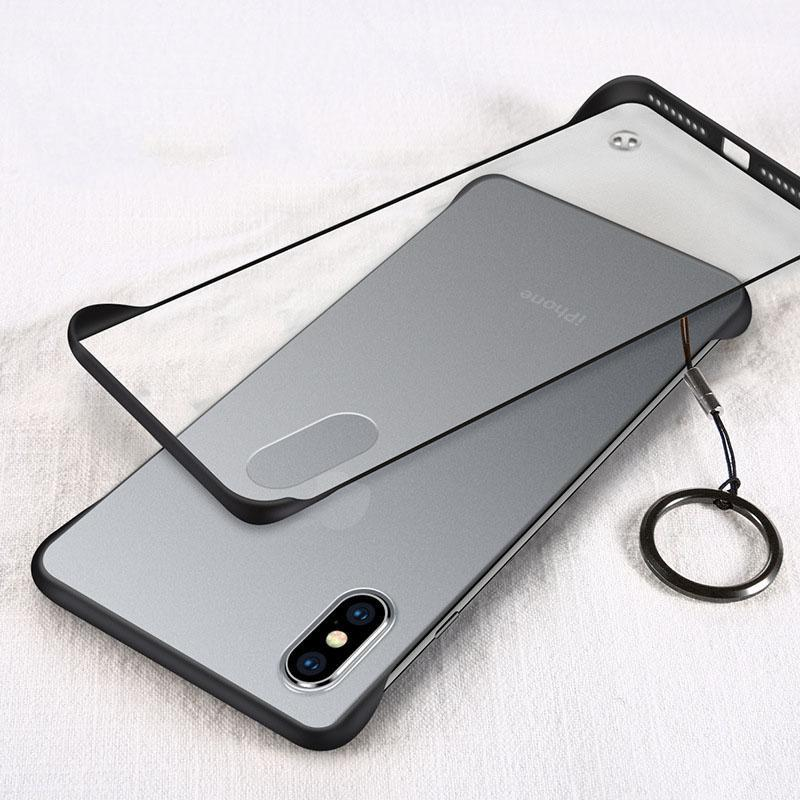 New Generation Frameless Ultra Thin Frosted Phone Case For iPhone phone case Rubili black IPHONE XS MAX